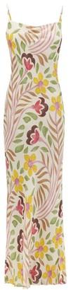 Rhode Resort Jemima Floral-print Crepe De Chine Slip Dress - Cream Multi
