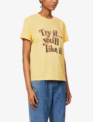 RE/DONE 70s slogan-print cotton-jersey T-shirt