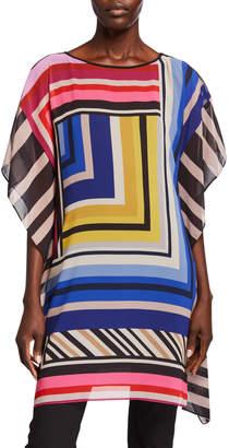 Trina Turk Grape Vine Striped Tunic Dress