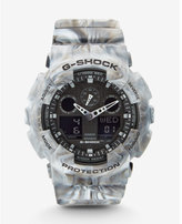 Express g-shock extra large gray marbled watch