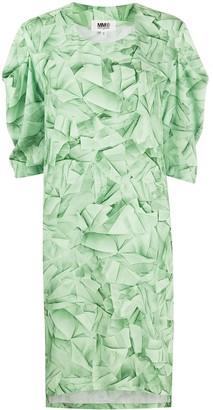 MM6 MAISON MARGIELA Geometric-Print Dress