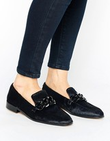 MANGO Leather Buckle Loafer