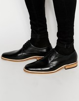 Dune Lace Up Shoes In Tan Leather
