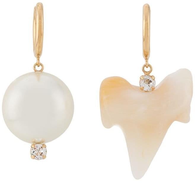 Simone Rocha Faux-Pearl And Tooth Earrings