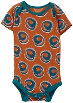 Kickee Pants Print Short Sleeve Bodysuit in Fiery Phoenix (Baby Boys)
