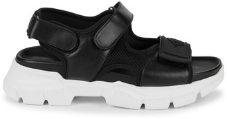 Roberto Cavalli Chunky Leather Sandals
