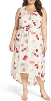 Lucky Brand Plus Size Women's Print High/low Maxi Dress