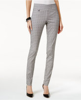 Alfani Petite Jacquard Pull-On Skinny Pants, Only at Macy's