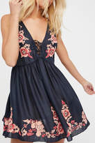 Free People Midnight Blue Embroidered Dress