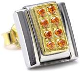 Nomination Earring Classic Stones made of Stainless Steel, 18K Gold and Cubic Zirconia (Orange)