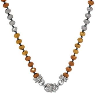 Kirks Folly Aslan Metallic Beaded Magnetic Necklace