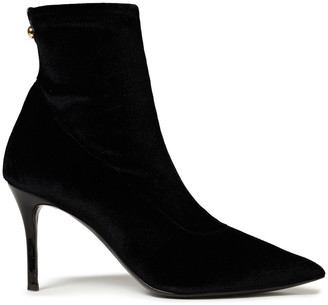 Giuseppe Zanotti Lucrezia 90 Velvet Ankle Boots