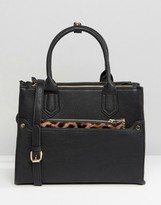 Oasis Tote Bag With Detachable Leopard Purse
