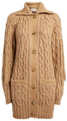 Chloé Longline Cable-Knit Cardigan