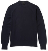Tom Ford Slim-fit Cashmere Sweater - Navy