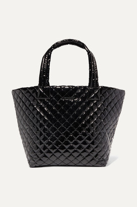 MZ Wallace Metro Medium Quilted Vinyl Tote - Black