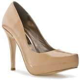 SM Luxe Wrap Patent Pump - Nude