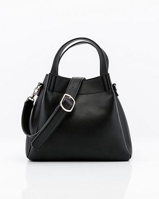 Le Château Pebbled Faux Leather Hobo Bag