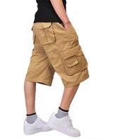 Tortor 1bacha Men's Big Tall Multi Pocket Cargo Shorts