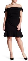 ABS by Allen Schwartz Off-The-Shoulder Scuba Dress (Plus Size)