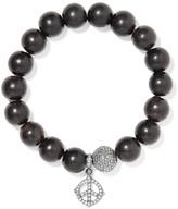 Loree Rodkin 18-karat Rhodium White Gold, Wood And Diamond Bracelet - Silver