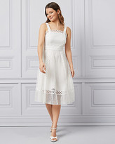 Le Château Crochet Lace Fit & Flare Dress
