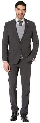 Nick Graham Charcoal Solid Suit (Charcoal) Men's Suits Sets