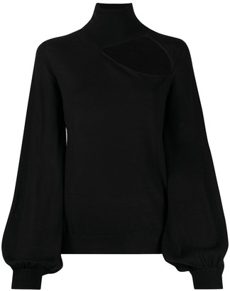P.A.R.O.S.H. Roll Neck Cut-Out Detail Jumper