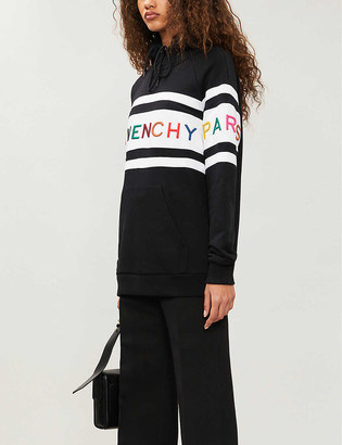 Givenchy Brand-embroidered cotton-blend jersey hoody