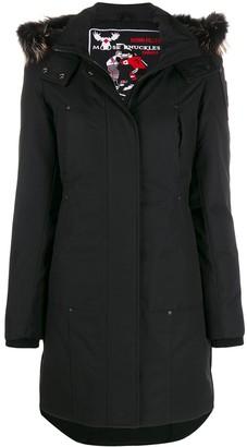 Moose Knuckles Zip-Up Parka Coat