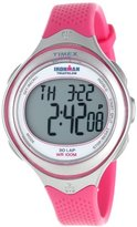 Timex Women's T5K6789J Ironman Clear View 30-Lap Pink Resin Strap Watch