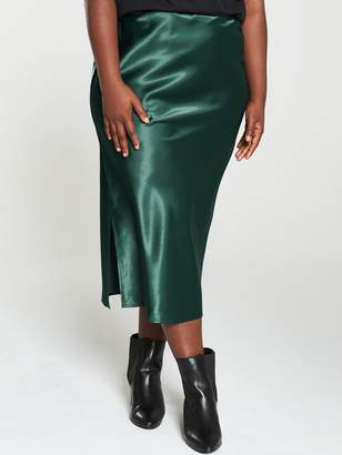 AX Paris Curve Midi Skirt - Teal