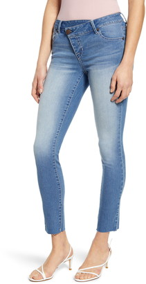 1822 Denim Asymmetrical Waist Ankle Slim Jeans