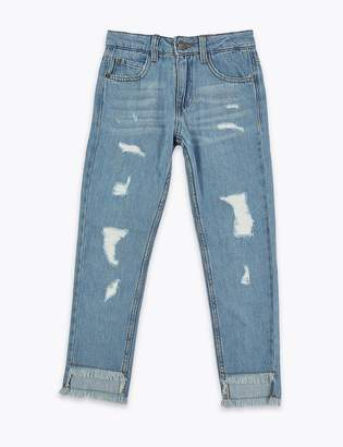 Marks and Spencer Pure Cotton Ripped Jeans (3-16 Years)