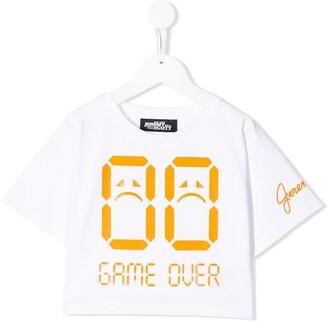 Jeremy Scott Junior game over print T-shirt