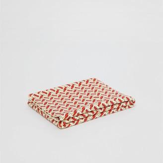 Burberry Monogram Print Merino Wool Baby Blanket
