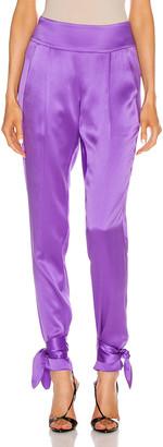 Mason by Michelle Mason Tie Pant in Grape | FWRD