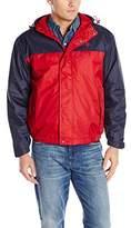U.S. Polo Assn. Men's Color Block Coat with Polar Fleece Lining