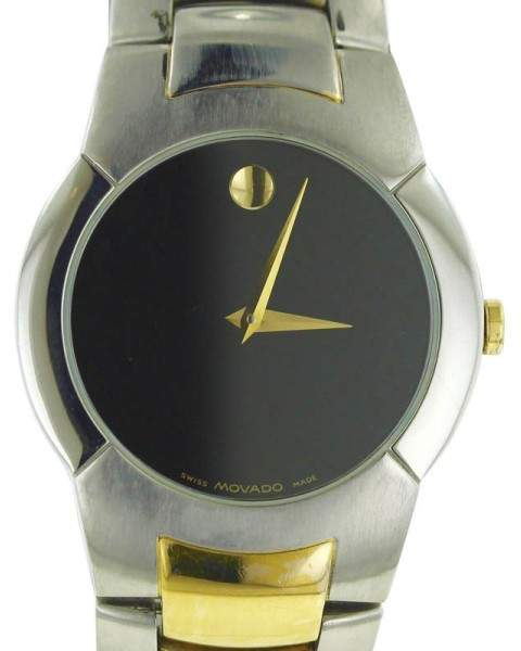 Movado Musuem 81.G1.1897 Two Tone 18K Gold & Stainless Steel 38mm Mens Watch