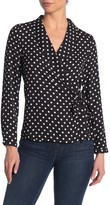 Adrianna Papell Surplice Long Sleeve Blouse