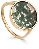 Moss Agate Venus Ring