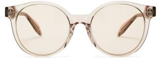 Alexander McQueen Skull-inlay Acetate Sunglasses - Clear