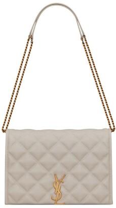 Saint Laurent Mini Leather Becky Chain Shoulder Bag
