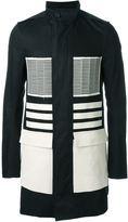 Rick Owens colour block coat - men - Cotton/Polyester/Cupro/Viscose - 52