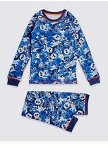 Marks and Spencer Cotton Blend All Over Print Thermal Set (18 Months - 16 Years)