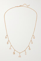 Thumbnail for your product : Jacquie Aiche Shaker 14-karat Rose Gold, Morganite And Diamond Necklace