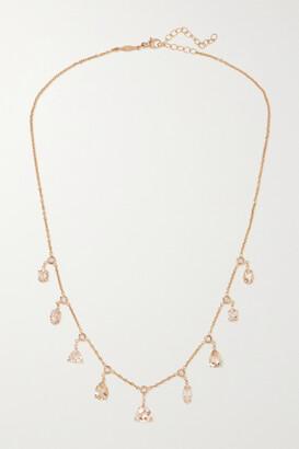 Jacquie Aiche Shaker 14-karat Rose Gold, Morganite And Diamond Necklace