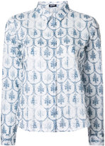 Jil Sander Navy printed shirt - women - Cotton - 42