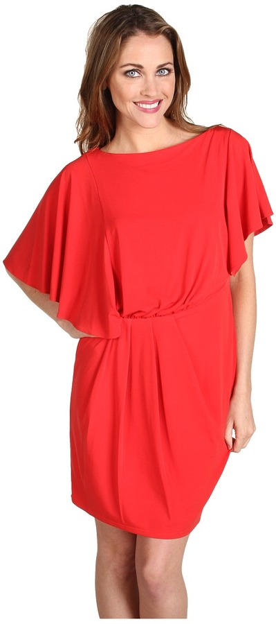 Vince Camuto Flutter Sleeve Dress VC2U1081 (Red Pepper) - Apparel