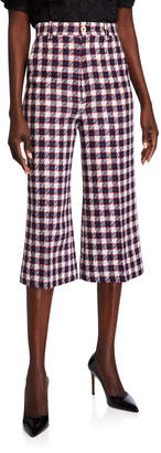 Gucci Sylvie Checked Culotte Pants